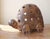 Vintage 70s Turtle Votive Candle Holder