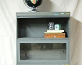 Industrial Metal Two Stack Barrister Bookcase Reserved for Bob