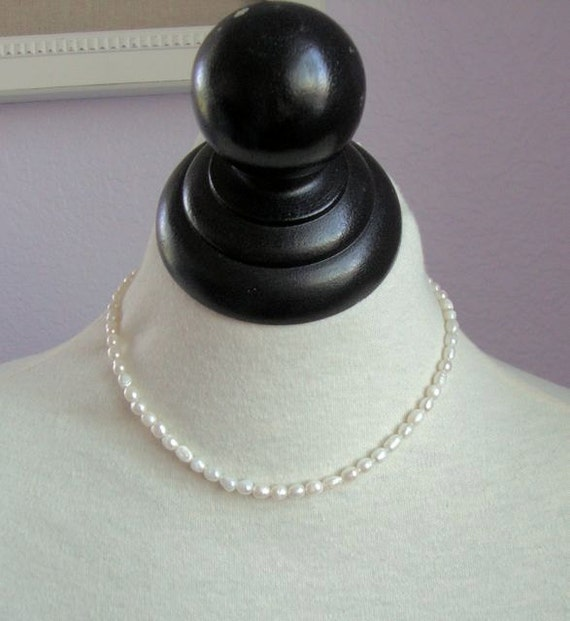 My First Pearl Necklace - Rice Pearl Necklace - Fresh Water Pearl Necklace