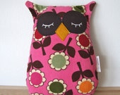 owl pillow - vintage corduroy fabric softie
