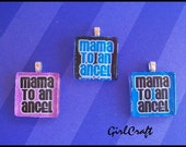 Mama To An Angel Square Glass Pendant With Chain