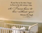 "Winnie the Pooh Wall Decal - Nursery Love Bedroom 82-36"""