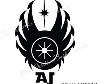 Star Wars Jedi Wall Decal Vinyl Shield 049