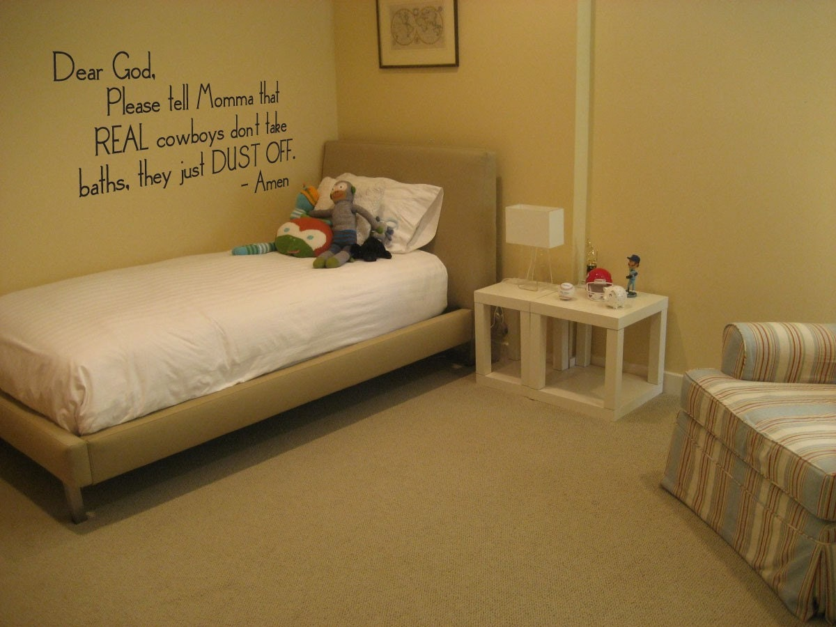 Wall Decal Cowboy Quote Nursery Or Little Boys Room 030-30