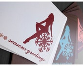 Holiday FLIRTY Collection - Set of 9 Greeting Cards (3 Assorted Colours)