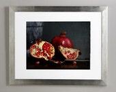 Natura Morta, red and black,  Fine art photograph, 8x12 print
