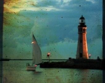 A Wandering Boat, Fine art photograph, print 8x8