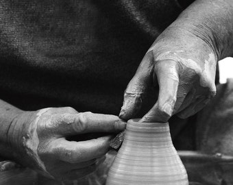 Magic of creation - potter's wheel  II, Fine art photograph, print 8x8