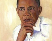 President Obama Portrait Digital Print United State's President Wall Art