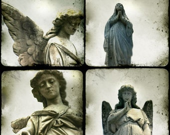 "New Orleans Angels - four 5""x5"" prints"