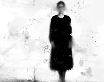 Person in Black - drawing, Limited Edition