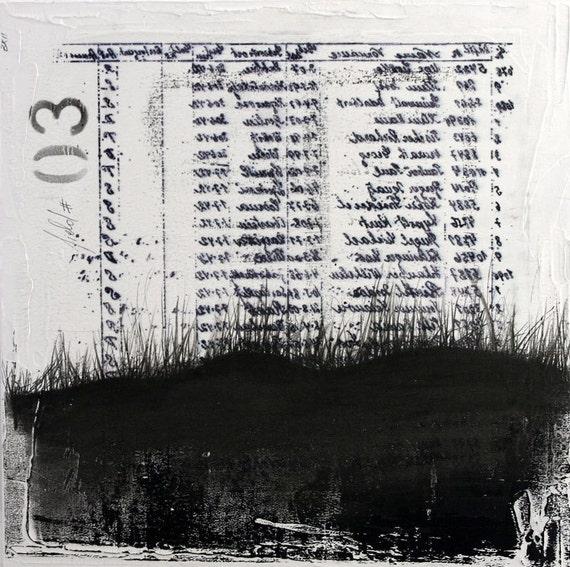 Dark fields No.3 - original graphite drawing