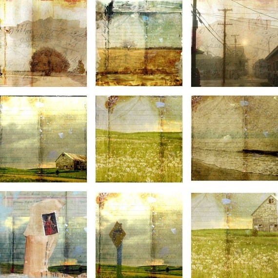 "Collection of Landscapes - nine 5""x5"" prints"