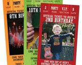 15 Concert TICKET Party Invitations for Adult or Children's party. Customized and Printed for You.