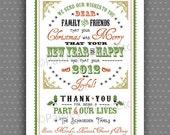Rustic Chic Christmas No. 2 - Custom Holiday Card. Option to Print.
