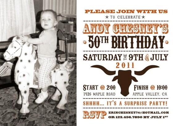 Items similar to Wild West Photo Birthday Party Invitation – Wild West Birthday Invitations