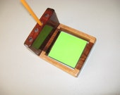 Brazilian Hardwood pen/post-it holder