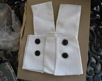 vintage linen collar and cuffs