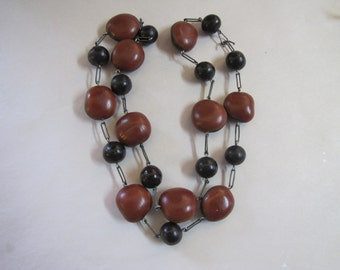 Vintage Nut & Seed necklace
