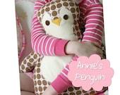 Penguin Pillow Sewing Pattern Annie's Penguin
