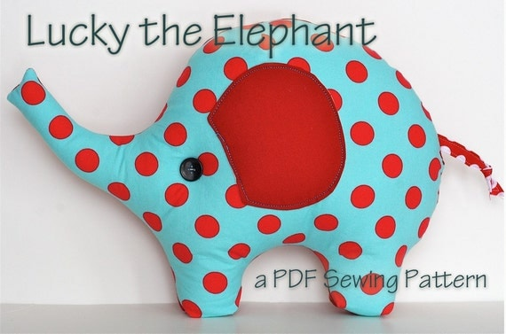 Elephant Template For Sewing Elephant Pillow Plush Sewing