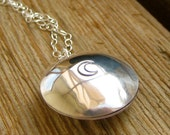 Personalized Silver Locket mirror finish