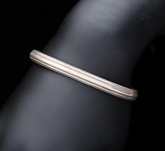 Sterling 50s - Bracelet - William deMatteo - James Geddy Mold Cuff
