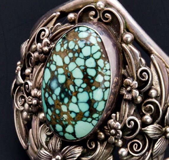 Navajo Bracelet 70s New Lander Turquoise By