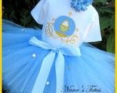 Cinderellas Coach,Sparkle ,Party Outfit, Theme Party,Birthday Tutu Set  in Sizes 1 yr  thru 5yrs