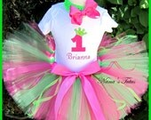 Birthday Number, Princess Crown, Party Outfit, Tutu Set   perfect for her special day in Sizes 1yr thru 5yrs