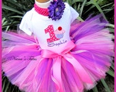 Reerved for Laura   - Birthday Cupcake with Number Party Outfit  perfect for Theme Parties in Sizes 1yr thru 5yrs