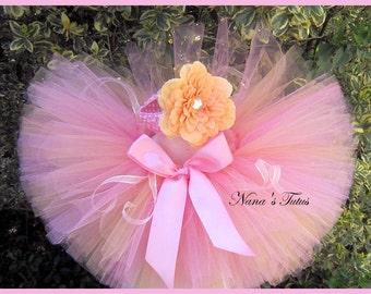 2pc Melon Blush, Tutu Set,Baby Shower, 1st Photo Shoot,Gift  in Size Nb - 6mos