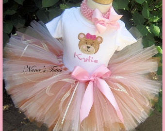 Party Outfit, My Teddy Bear,  Theme Party, Personalized, Photo Shoots, Teddy Bear Birthday in Sizes up to  3yrs