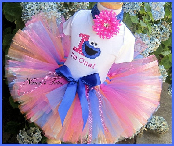 Birthday Cookie with Number,Party Outfit,Theme Party,Tutu Set,Personalized in Sizes 1yr thru 5yrs