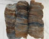 Blue-eyed Teddy Bear - 2.5oz - Fiber Batt