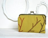 SALE - Branches on a Kiss Lock Frame Wallet