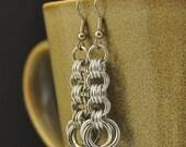 3in3 Silver Earrings E58