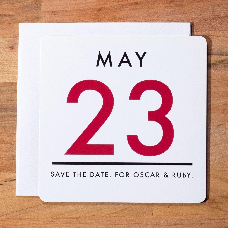 Vintage Calendar Save the Date