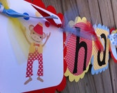 Under the Big Top Circus Themed Happy Birthday Banner
