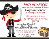 DIY - DIGITAL FILE - Pirate invitation