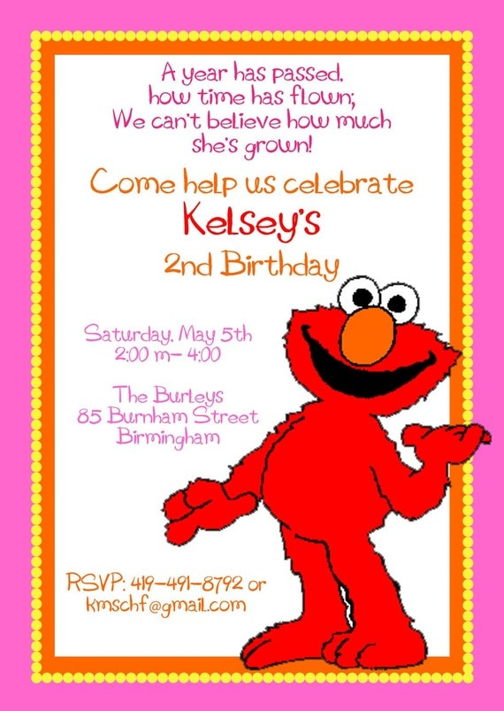 Elmo Birthday Party Invitations and get inspiration to create nice invitation ideas