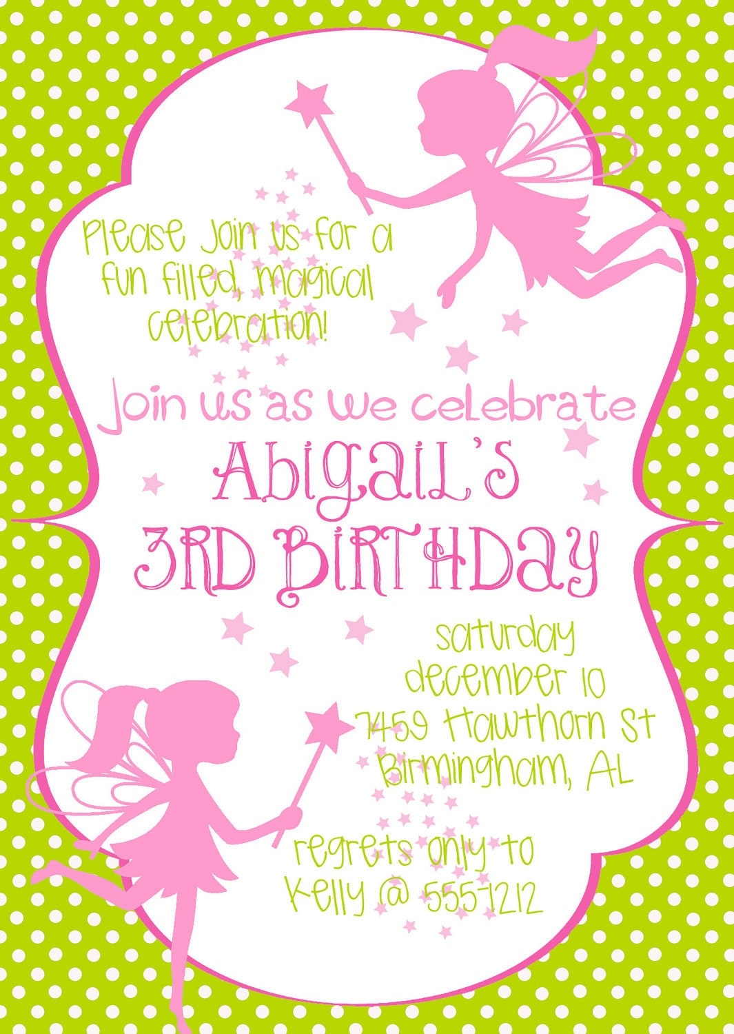Fairy Birthday Invitations could be nice ideas for your invitation template