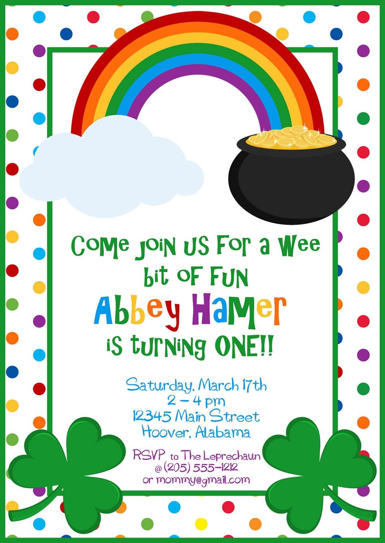 St Patricks Day Rainbow & Shamrock Party by BurleyGirlDesigns