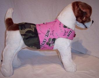 PET HARNESS SGT. Cutie Pink Camo Dress