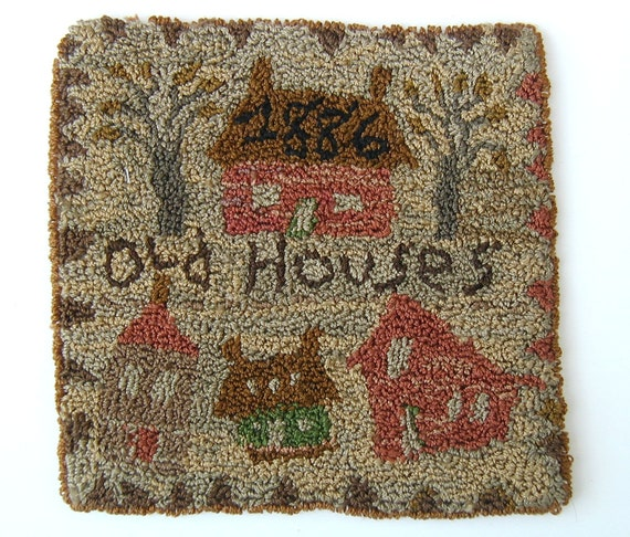 Old Houses Pattern for Punchneedle Embroidery