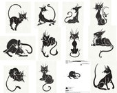BLACK CATS Whimsy Machine Embroidery Designs
