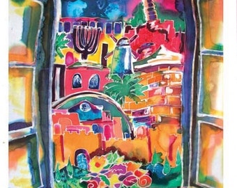 Window on Jerusalem Hand Signed Art Print, A welcome spring addition