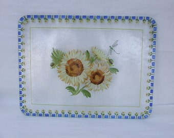 Hand Painted SUNFLOWERS Large Cutting  Board