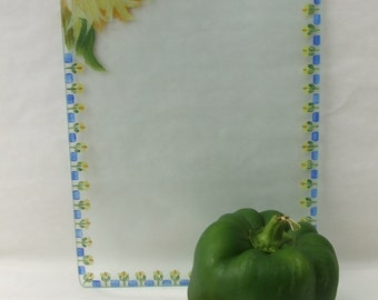 Hand Painted SUNFLOWERS Small Cutting Board