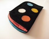 LEATHER EYE GLASS CASE - FOR TWO PAIRS - POLKA DOT SERIES